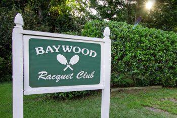 Baywood Racquet Club Sign